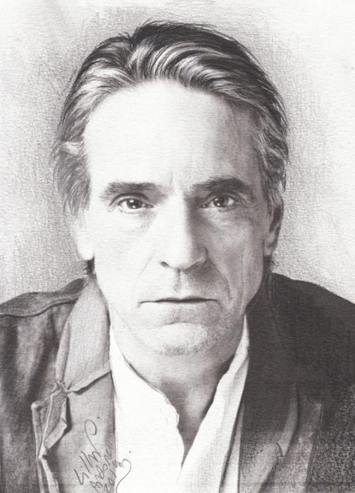 Jeremy Irons por IAMPORTRAITARTIST